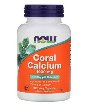 Now Foods, Koralle Kalzium (coral calcium), 1000 mg, 100 vegetarische Kapseln