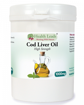 Cod Liver Oil 1000mg x 120 capsules (High Strength)