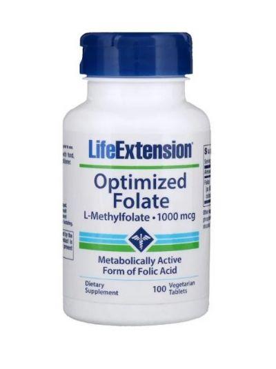 Life Extension OPTIMIZED FOLATE (L-METHYLFOLATE) 1000 mcg 100 Kapseln
