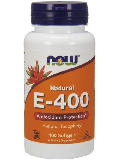 Now Foods Natural E-400, 100 Softgels