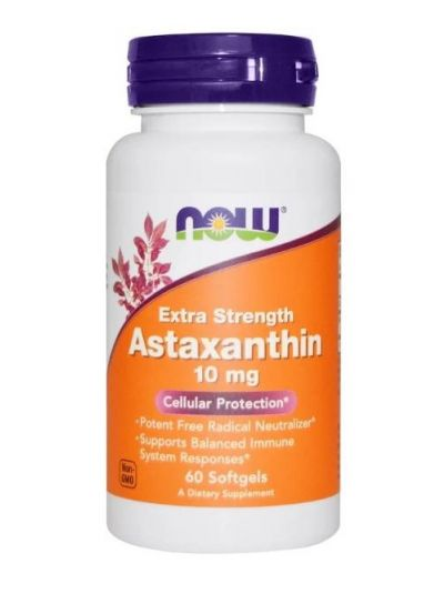 Now Foods, Astaxanthin, 10 mg, 60 Softgels