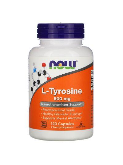 Now Foods L-Tyrosin 500 mg, 120 capsules