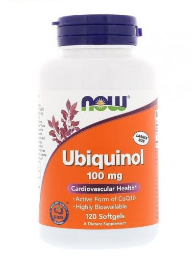 Now Foods Ubiquinol Q10 100mg 120 weiche Gelkapseln
