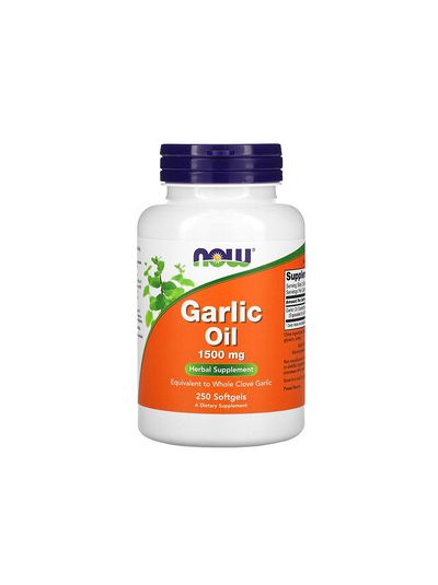 Now Foods Garlic Oil 1,500 mg 250 Softgels