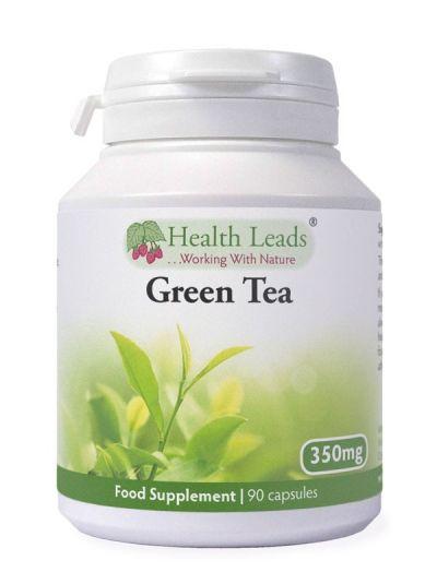 Health Leads Grüner Tee (Sencha) 350 mg x 90 Kapseln