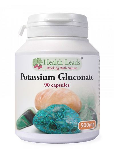 Health Leads Potassium Gluconate 500mg x 90 capsules