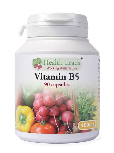 Health Leads VITAMIN B5 (PANTOTHENIC ACID) 400 MG X 90 CAPSULES