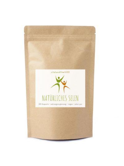 Vitalundfitmit100 Natürliches Selen (aus Senfsamen) 180 Kapseln á 145 mg