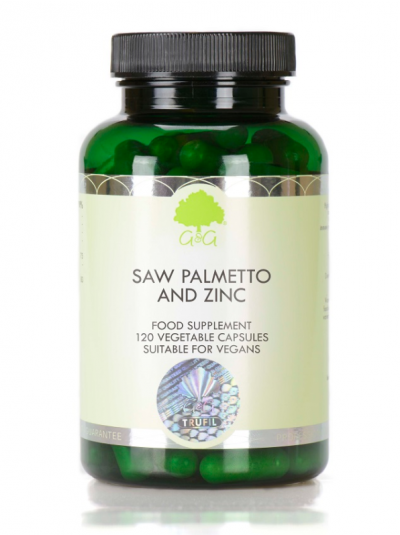 G&G Vitamins Saw Palmetto & Zinc - 120 Capsules