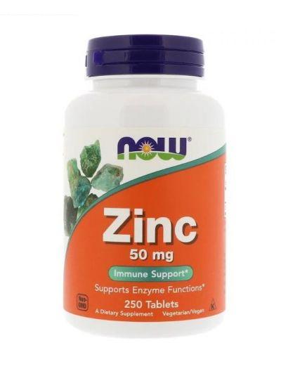 Now Foods Zink 50 mg 250 Tabletten