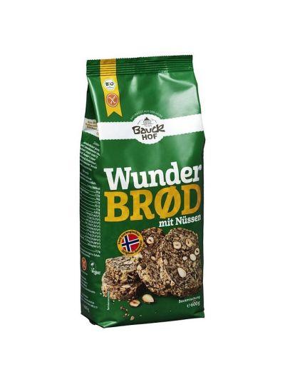 Bauckhof Bio Brotbackmischung Wunderbrot mit Nüssen (ohne Hefe) 600g