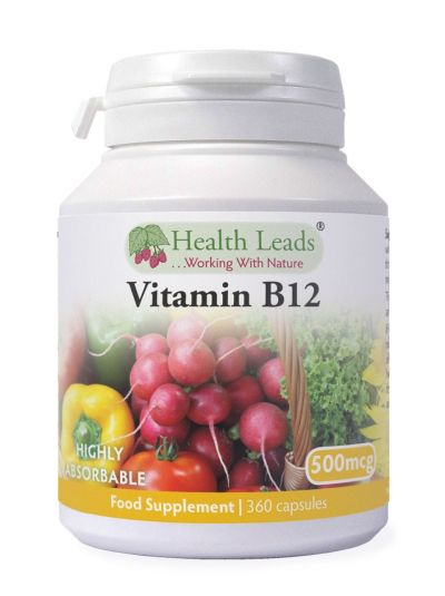 HEALTH LEADS VITAMIN B12 (METHYLCOBALAMIN) 500MCG 360 KAPSELN