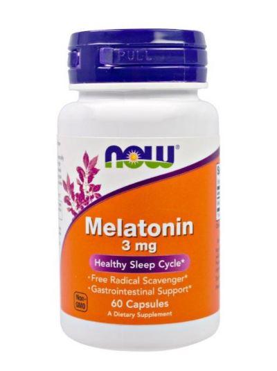 Now Foods Melatonin 3 mg 60 Kapseln