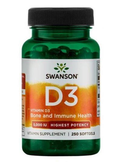 Swanson Vitamin D-3 hohe dosis 5.000 IU 250 Softgels
