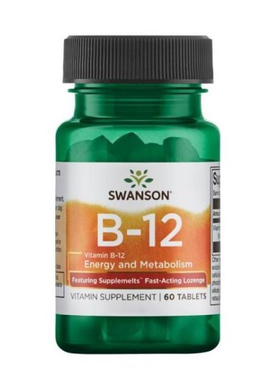 Swanson Ultra Vitamin B-12 Methylcobalamin 5.000 mcg 60 Tabletten