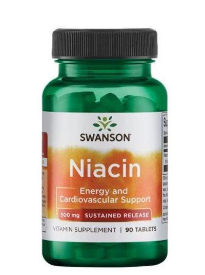 Swanson Niacin - Langsame Freigebung - 500 mg 90 Tabletten