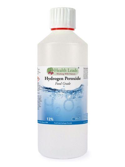 HEALTH LEADS HYDROGEN PEROXIDE H2O2 12% SOLUTION 500 ML