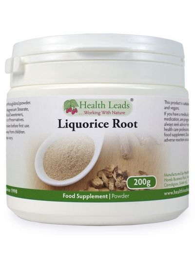 HEALTH LEADS LICORICE WURZEL (Liquorice Root) PULVER 200G