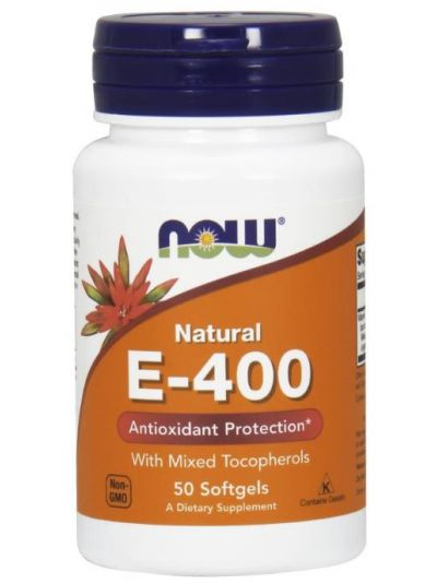 Now Foods Natural E-400 With Mixed Tocopherols 250 Softgels