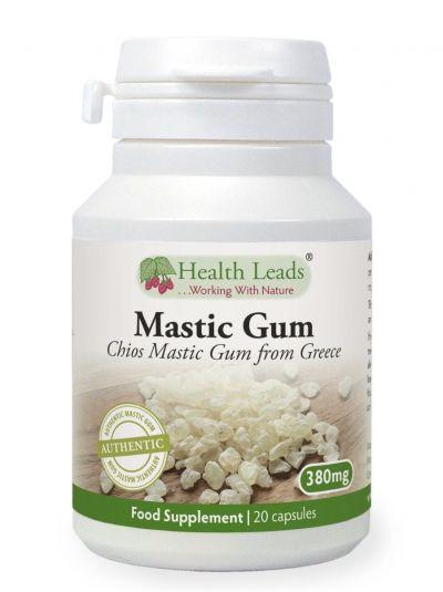 HEALTH LEADS MASTIC GUM 380 MG X 20 Capsules