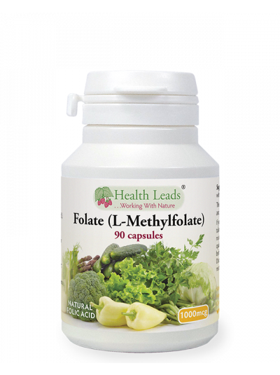 Health Leads Folate 1000mcg x 90 capsules