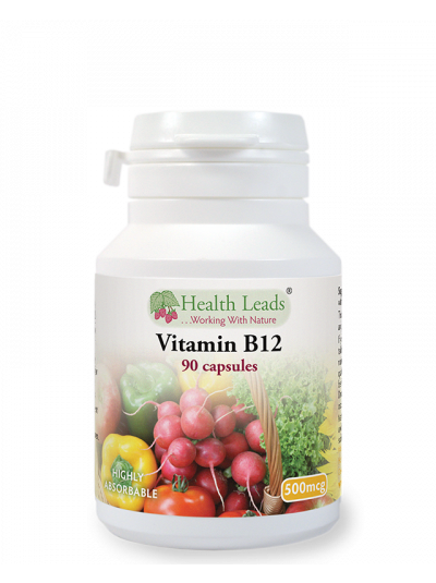 Health Leads Vitamin B12 500mcg x 90-360 capsules