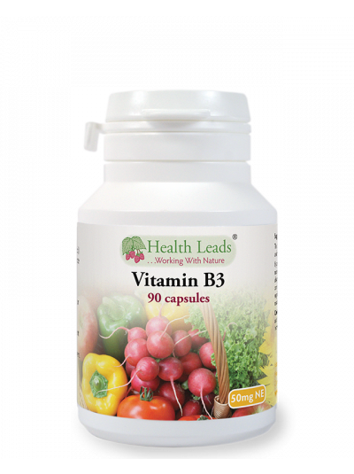 Health Leads VITAMIN B3 (NIACIN) 50 MG X 90 CAPSULES
