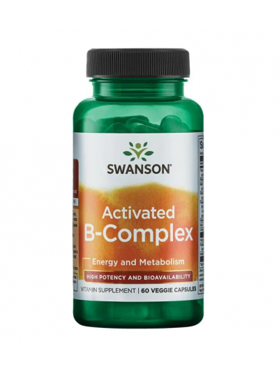 Swanson Ultra- Activated B-Complex - High Potency and Bioavailability 60 Capsules