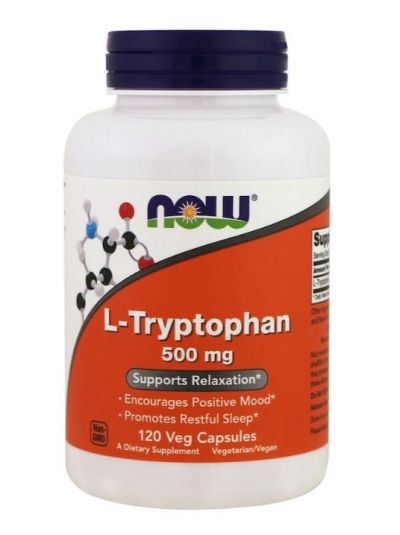 Now Foods L-Tryptophan 500 mg 120 Veg Caps
