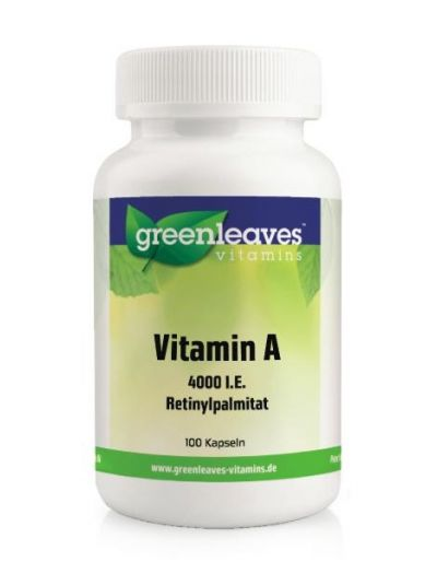 Green Leaves Vitamins VITAMIN A 4000 I.E. 100 Kapseln