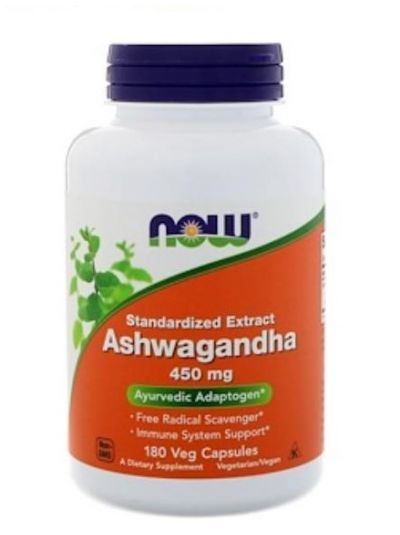 Now Foods Ashwagandha 450 mg 180 Veg Capsules