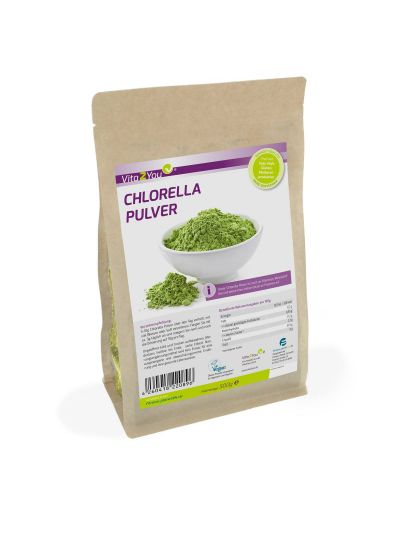 Vita2You Chlorella Pulver - Superfood-Alge - Premium Qualität 500g