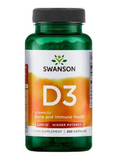Swanson Premium Vitamin D3  2000IU 250 vege Kapseln