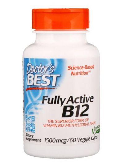 Doctor's Best Full Actives B12, 1500 mcg 60 vegetarische Kapseln