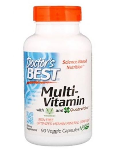 Doctor's Best Multi-Vitamin with Vitashine D3 and Quatrefolic 90 veg. caps