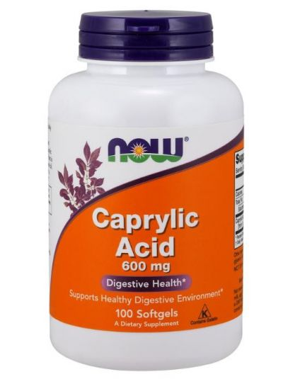 Now Foods Caprylsäure 600 mg 100 Softgelkapseln