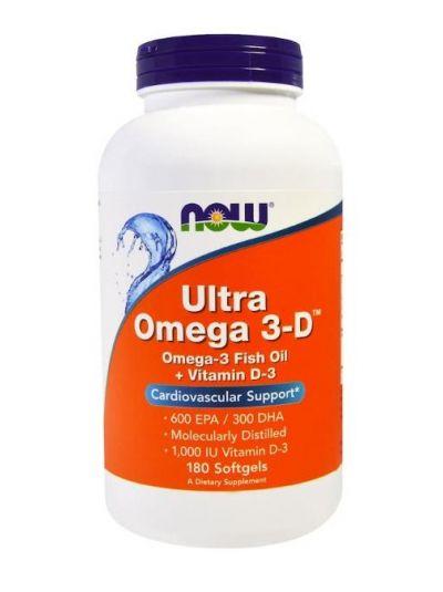Now Foods Ultra Omega 3-D 600 EPA/300 DHA 180 Softgels