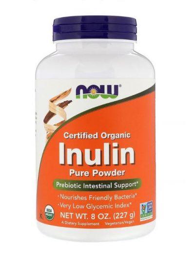 Now Foods BIO Zertifiziertes Inulin reines Pulver 227g
