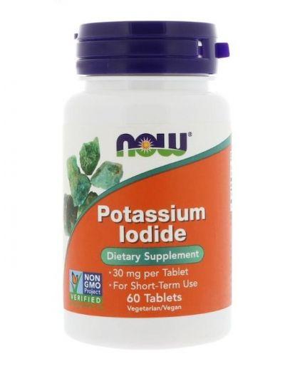 Now Foods Kaliumjodid 30 mg 60 Tabletten