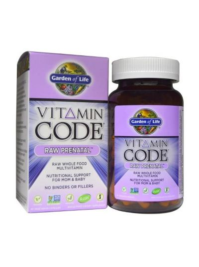 Garden of Life Vitamin Code Pränatales Ergänzungsmittel 90 vegetarische Kapseln