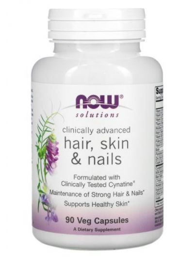 Now Foods Clinically Advanced HAIR, SKIN, NAILS, 90 VEGETABLE CAPSULES
