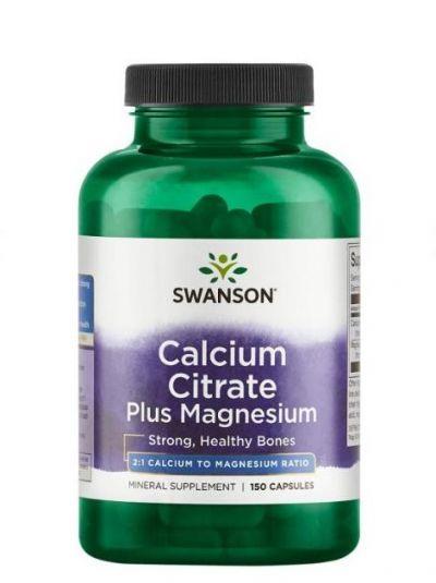 Swanson Calciumcitrat plus Magnesium 2:1, 150 Kapseln