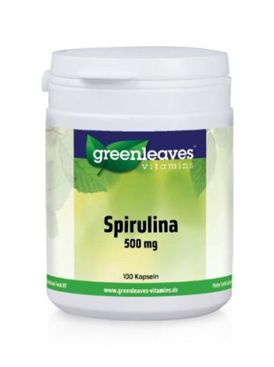 Green Leaves SPIRULINA 500 MG 100 Kapseln