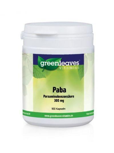 Green Leaves PABA (PARAAMINOBENZOESÄURE) 300 MG 100 Kaps