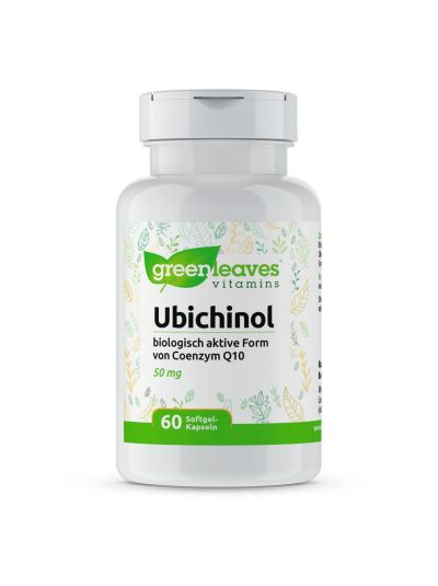 Green Leaves UBICHINOL (Biologisch aktive Coenzym Q10 ) 50 MG 60 softgels