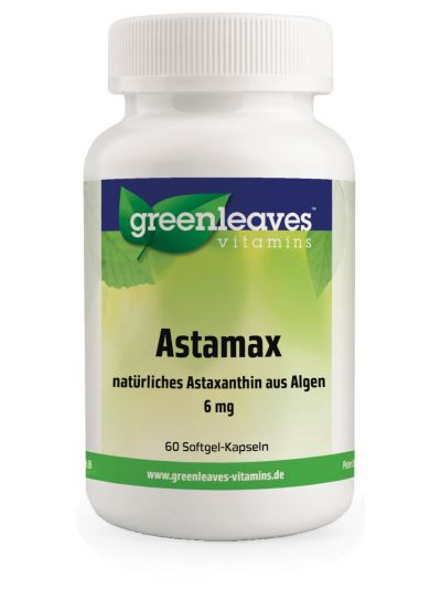 Green Leaves ASTAMAX (ASTAXANTHIN) 6 MG 60 softgels