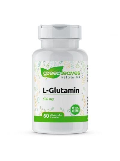 Green Leaves Vitamins L-GLUTAMIN 500 MG 60 Kapseln