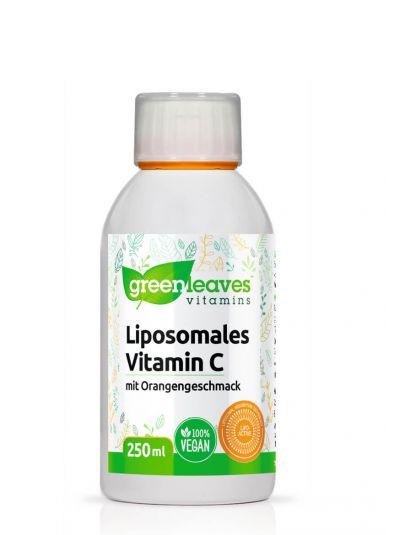 Green Leaves Liposomales Vitamin C mit Orangengeschmack 250 ml
