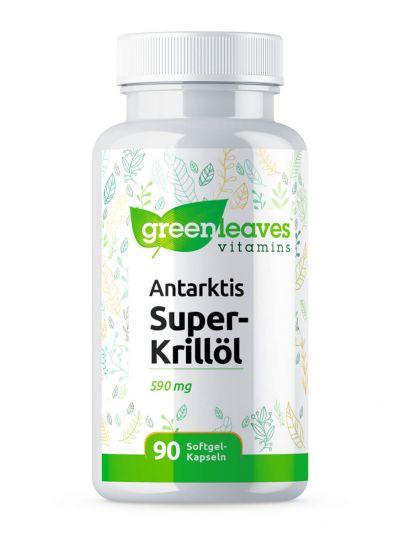 GREEN LEAVES ANTARCTIC SUPER KRILL OIL 590 MG 90 SOFTGEL CAPSULES