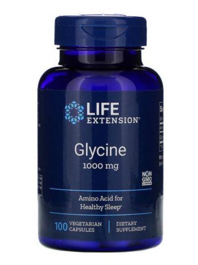 Life Extension Glycin, 1.000 mg, 100 Vegetarische Kapseln